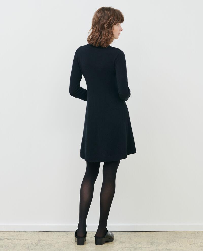 3D cashmere blend mini dress Black beauty Paulnela