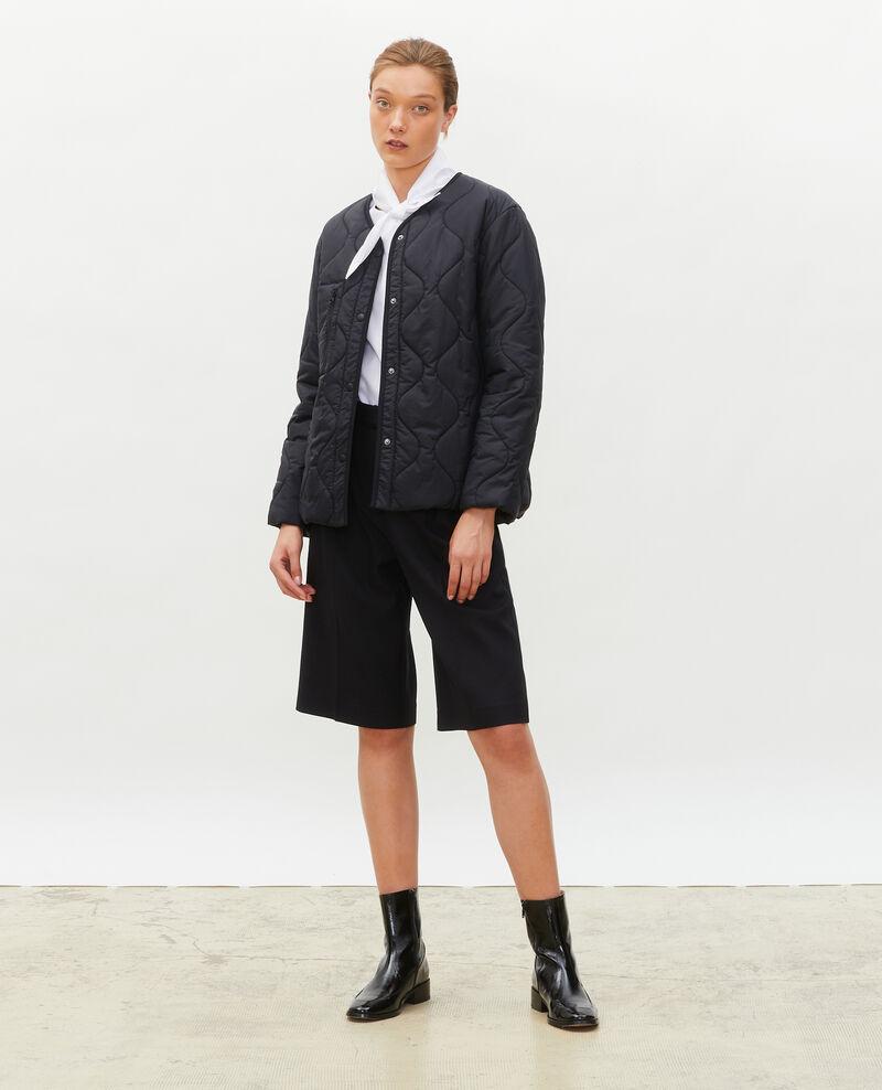 Oversize V-neck down jacket  Black beauty Matra
