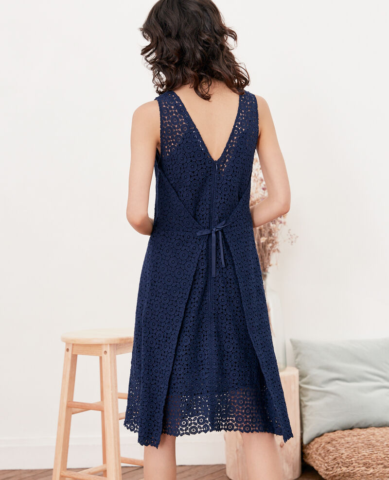 Lace dress Navy Fontpellier