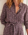 Printed dress Leopard potent purple Joleil