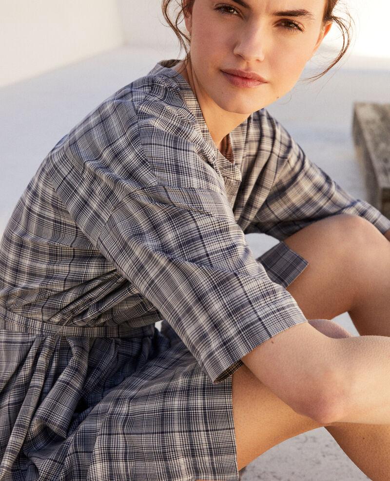 Cotton dress Off white/navy Imarine