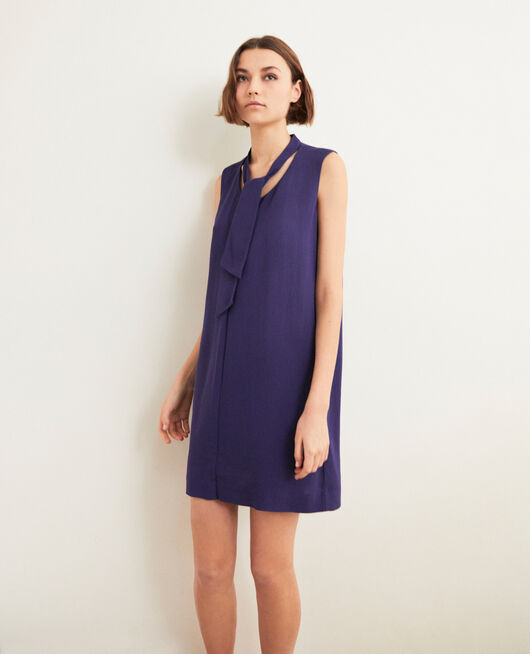 Dress with removable tie INK NAVY