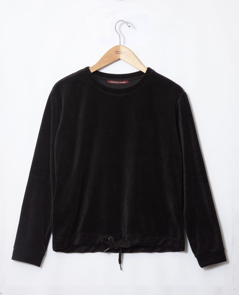 Velvet sweater Black Gala