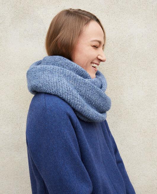Chunky knit scarf ADRIATIC BLUE