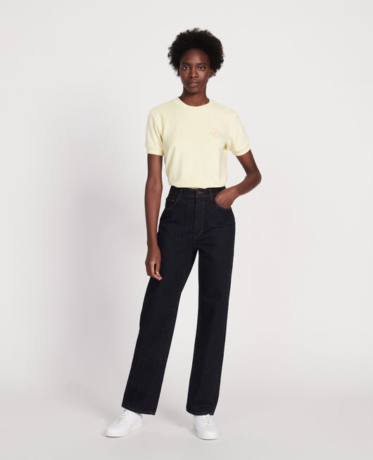 Straight-cut high-waisted jeans DENIM RINSE