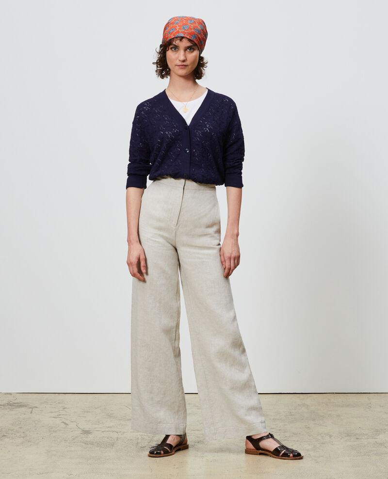 Linen high-waisted trousers Natural linen Neronde