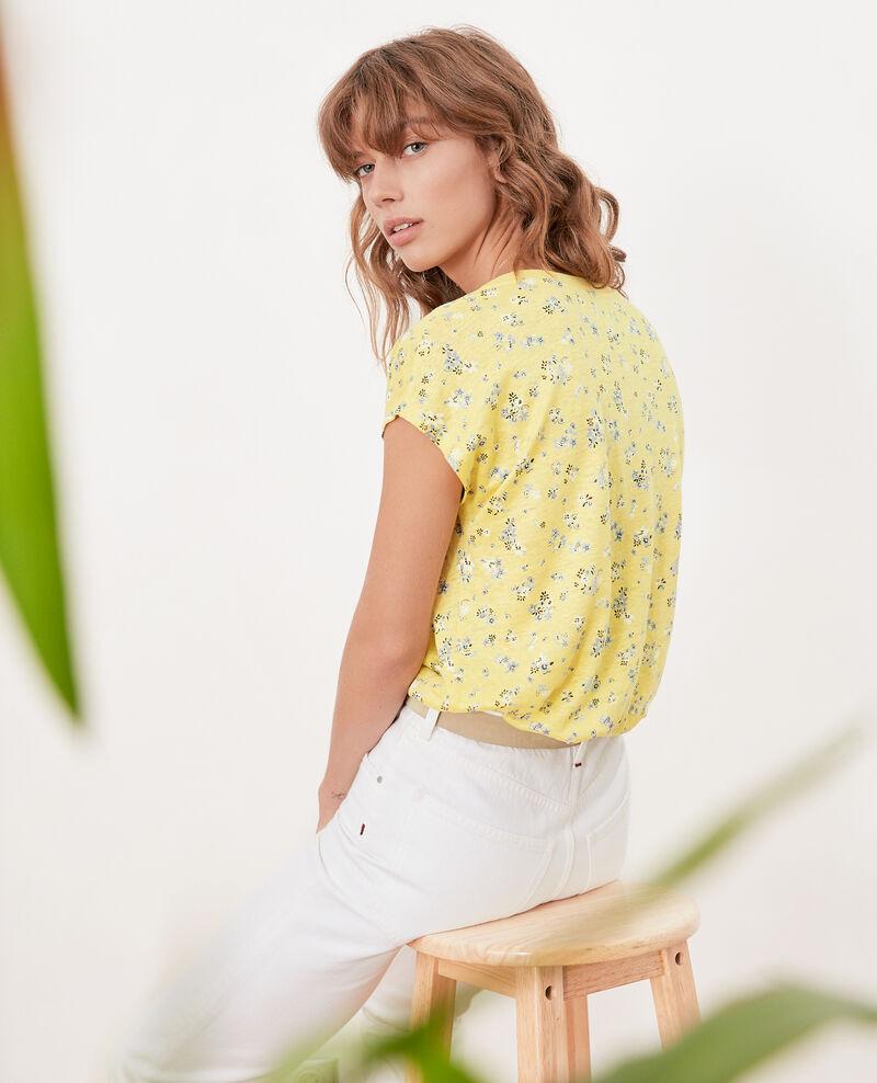 Floral print T-shirt Lillybell lemon Franka