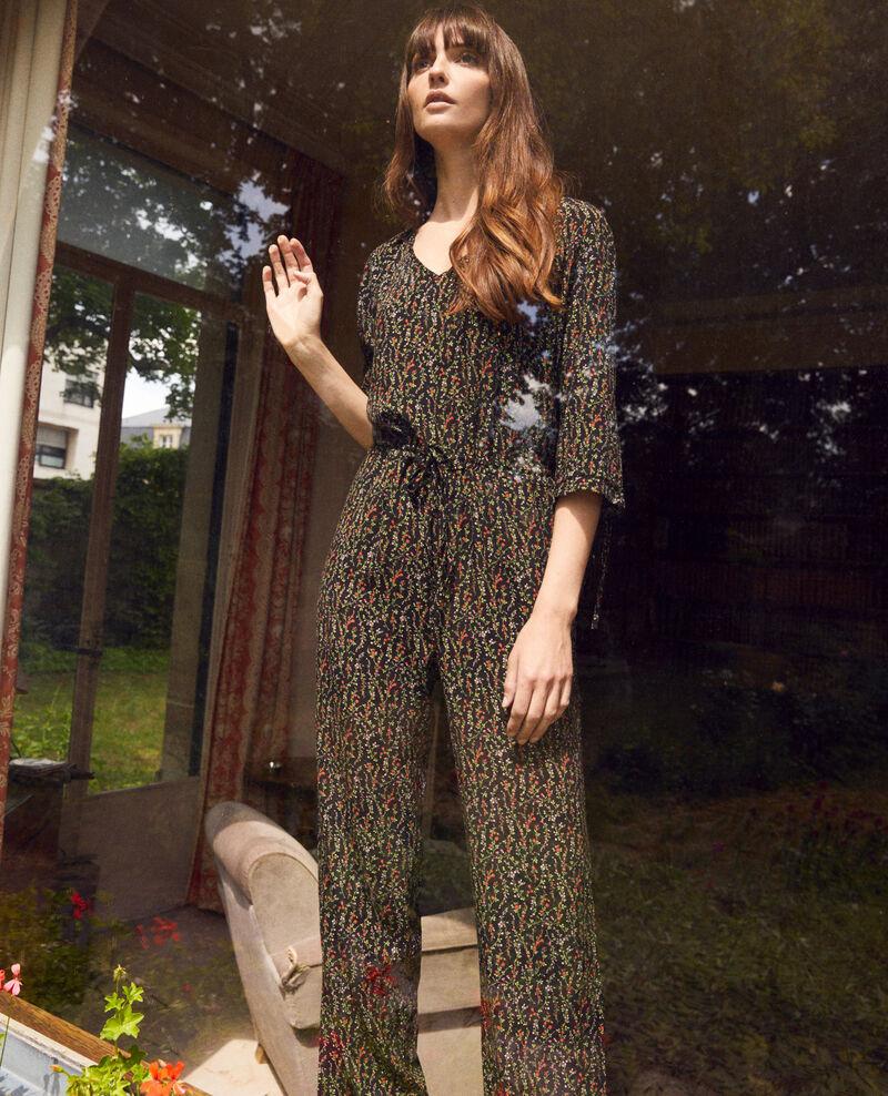 Printed jumpsuit Daphne noir Jisola