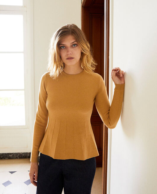 Round neck jumper ICED COFFEE