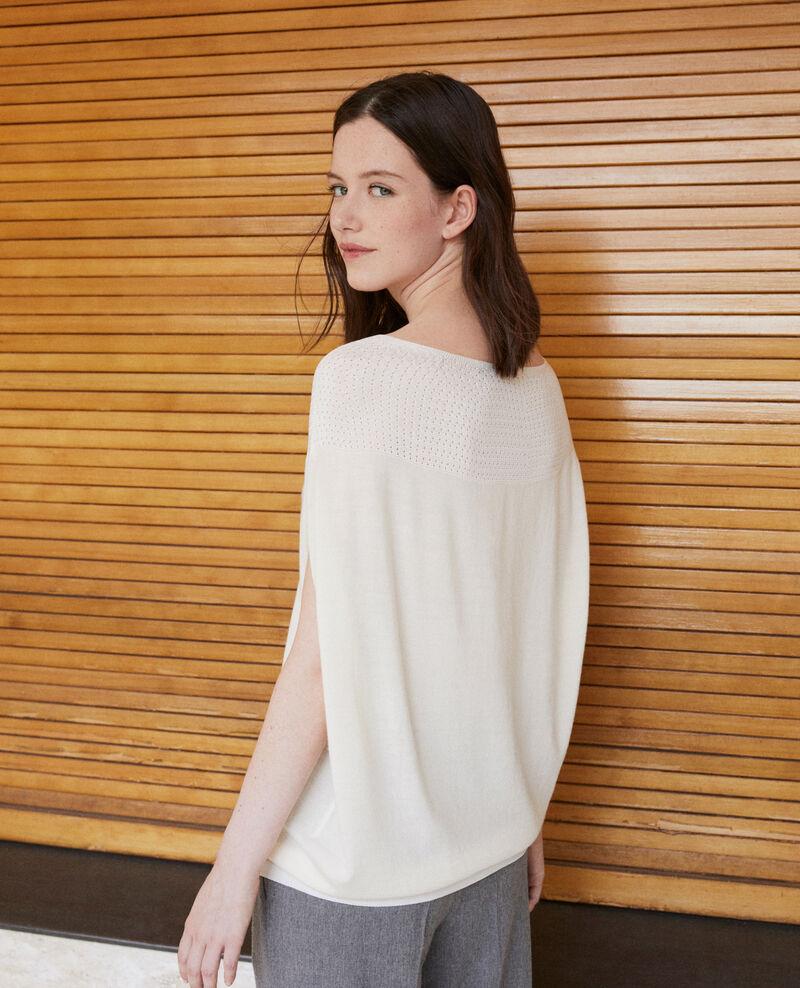 Bubble-shaped whole garment jumper White Gelsa