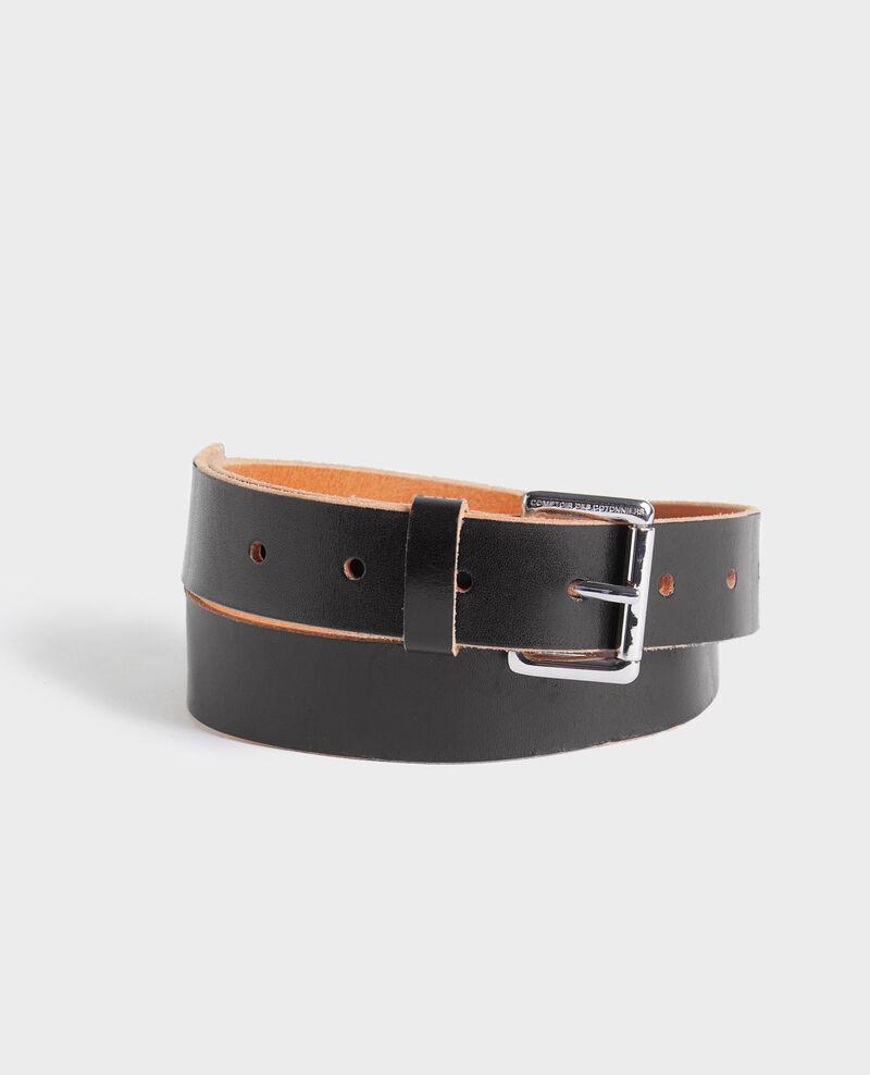 Classic leather belt Black beauty Noyau