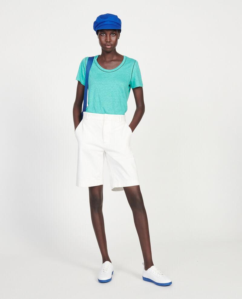 Linen jersey T-shirt Bright aqua Lye