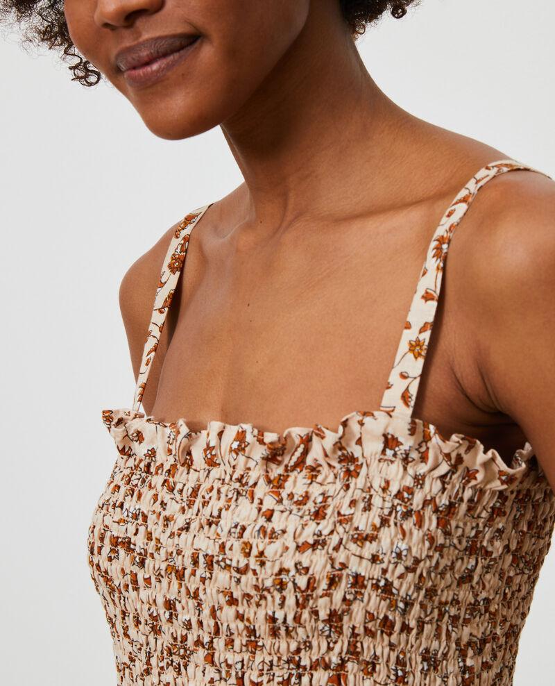 Linen mini dress Indie-small-umber Nassandria