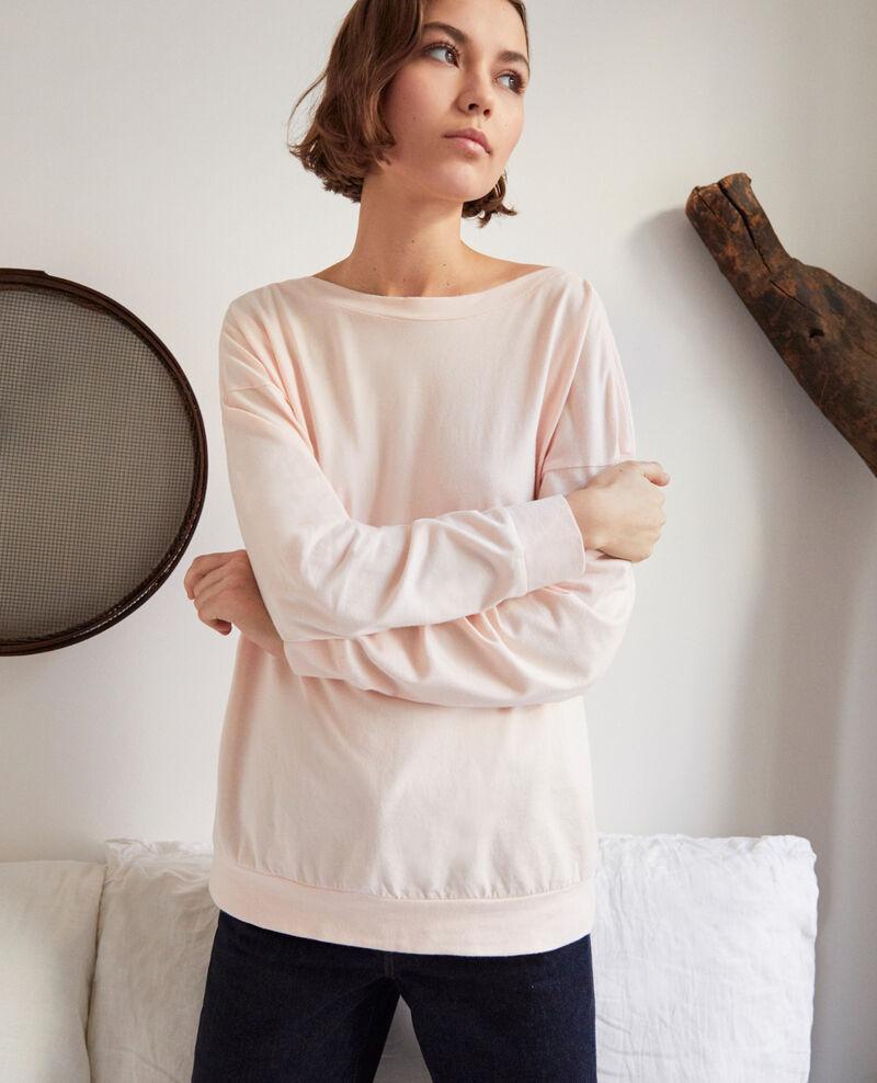 Boatneck sweatshirt Rose Inkaja