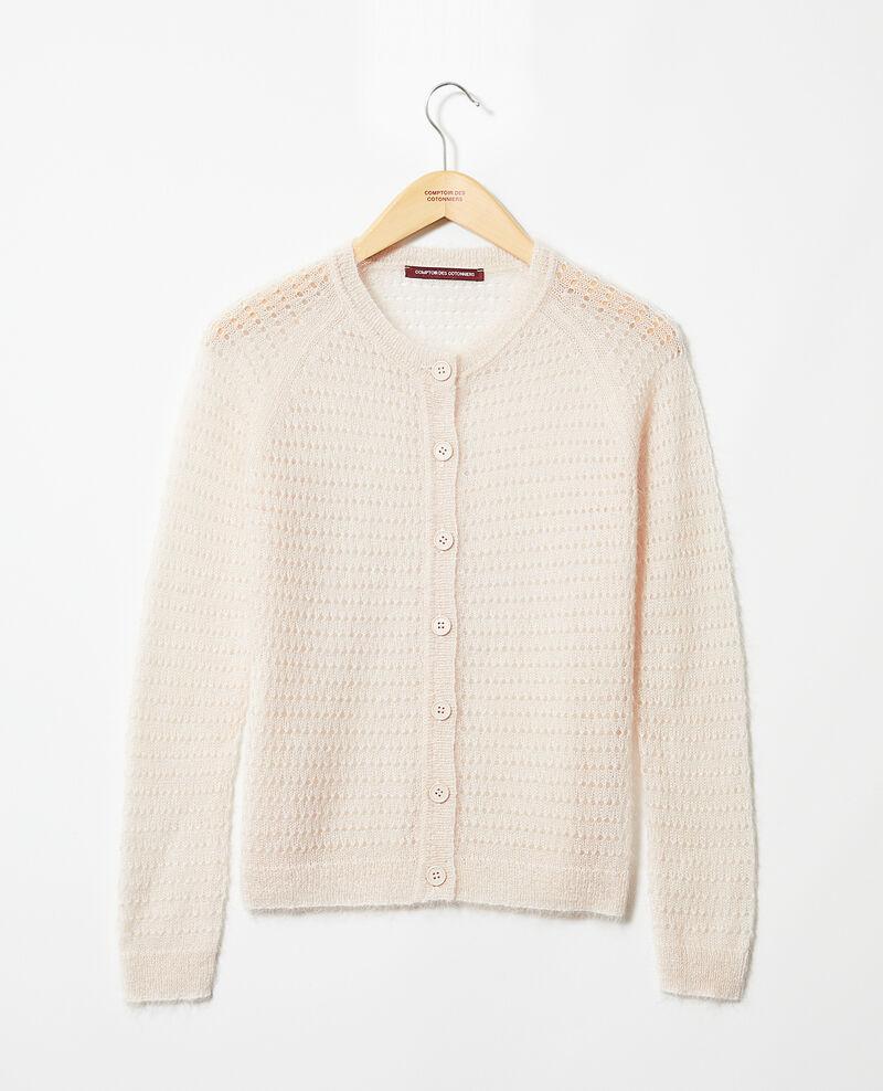 Novelty knit cardigan Light pink Isidore