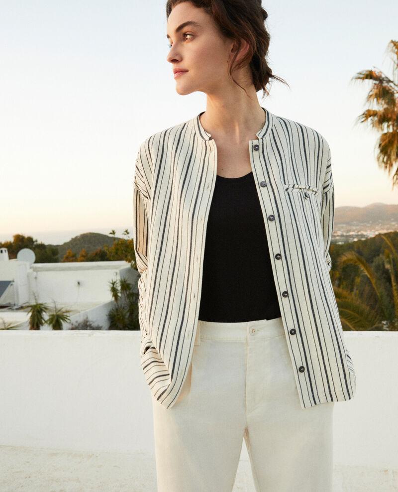 Striped shirt Off white/navy stripes Francine