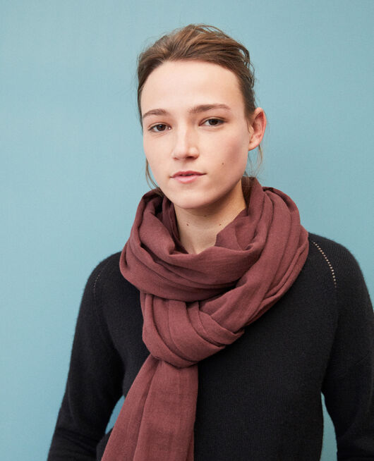 Organic cotton scarf DECADENTE CHOCOLATE