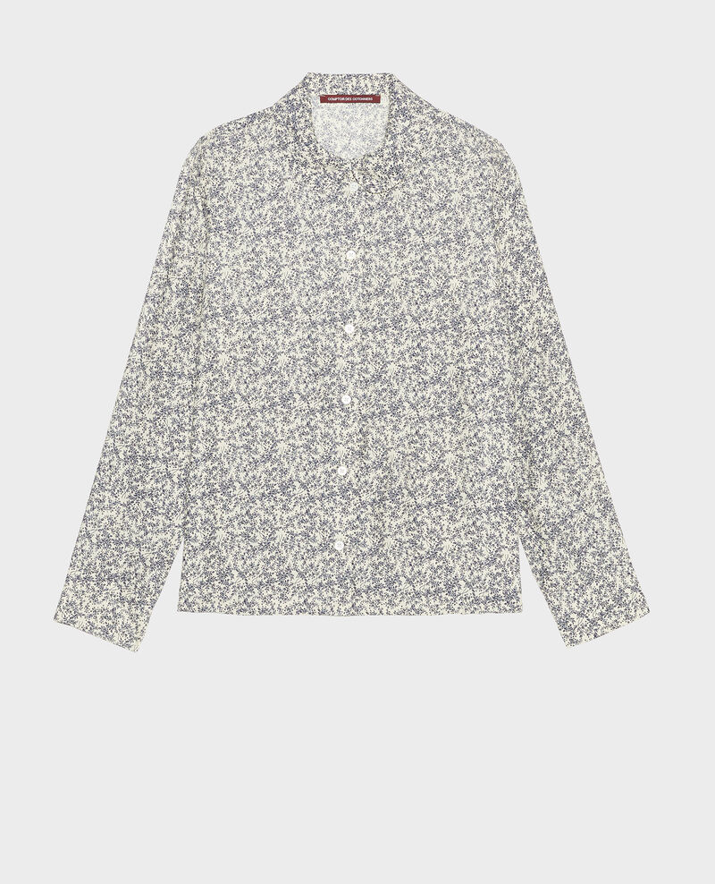 Printed shirt Feuillage off white Laloun