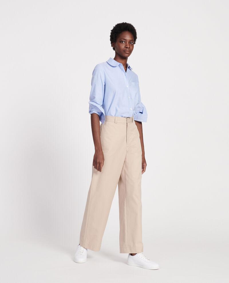 Cotton boyfriend trousers Oxford tan Lodrey