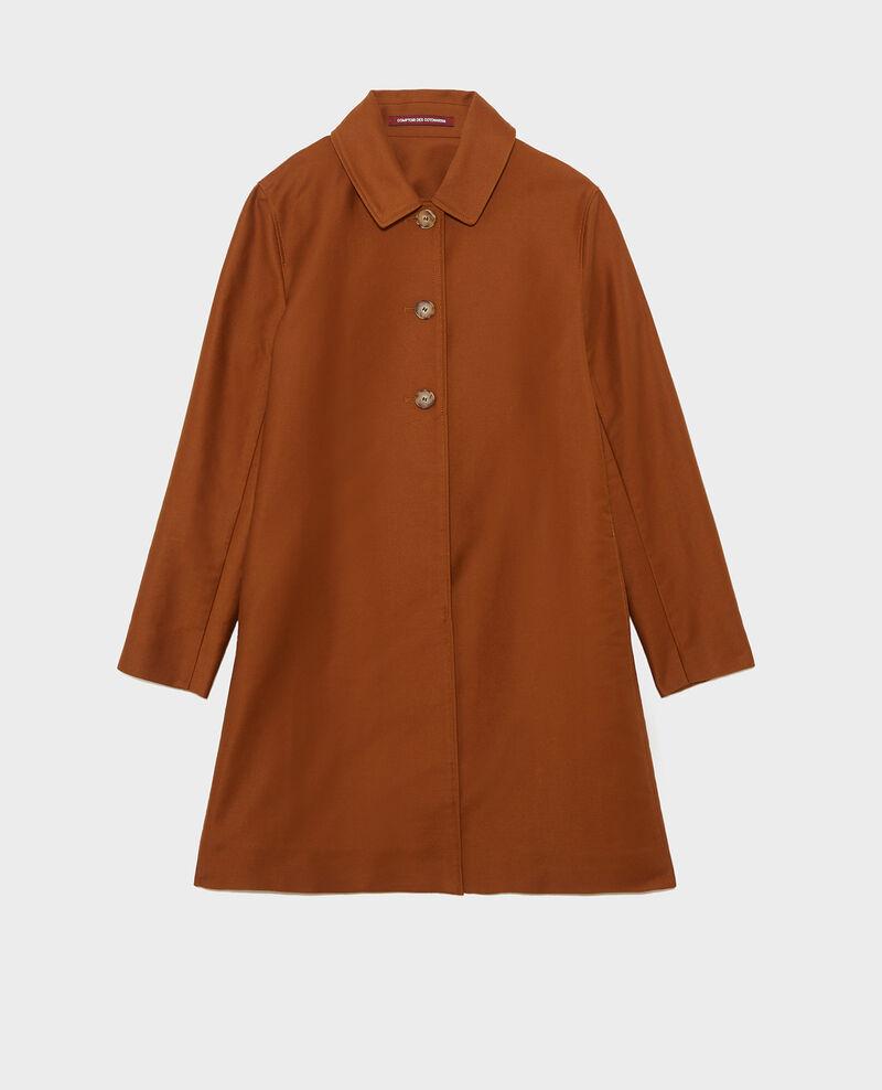 Cotton overcoat Marron Loyale