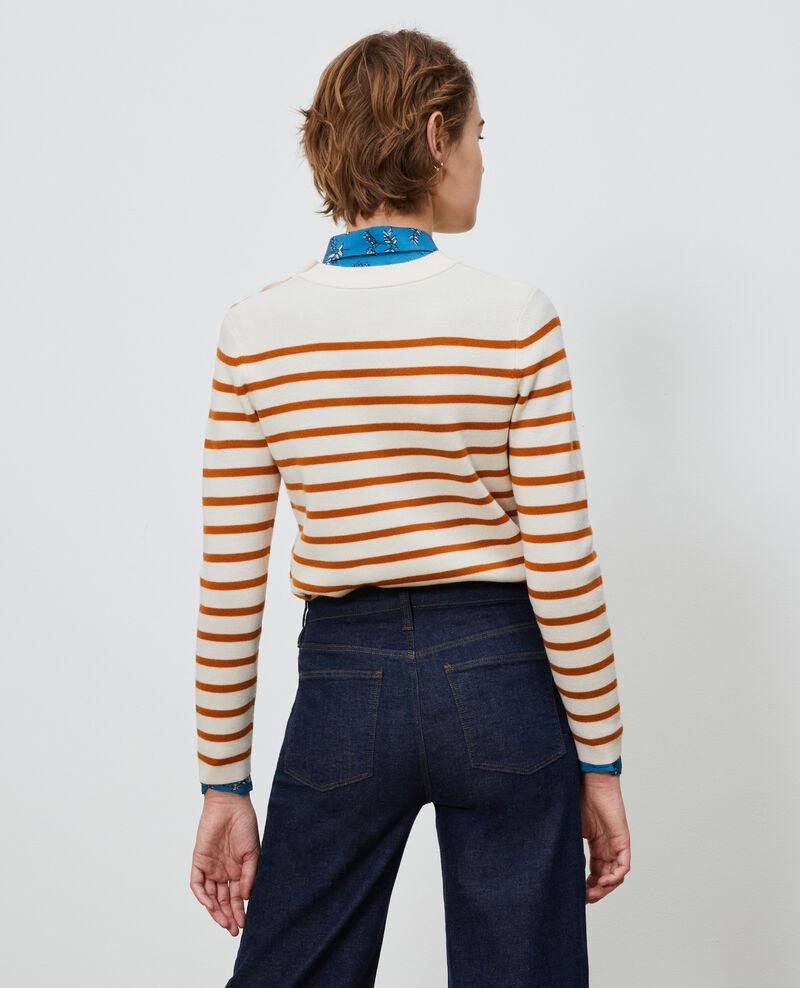 Striped wool jumper Stp_grd_pumkn Liselle