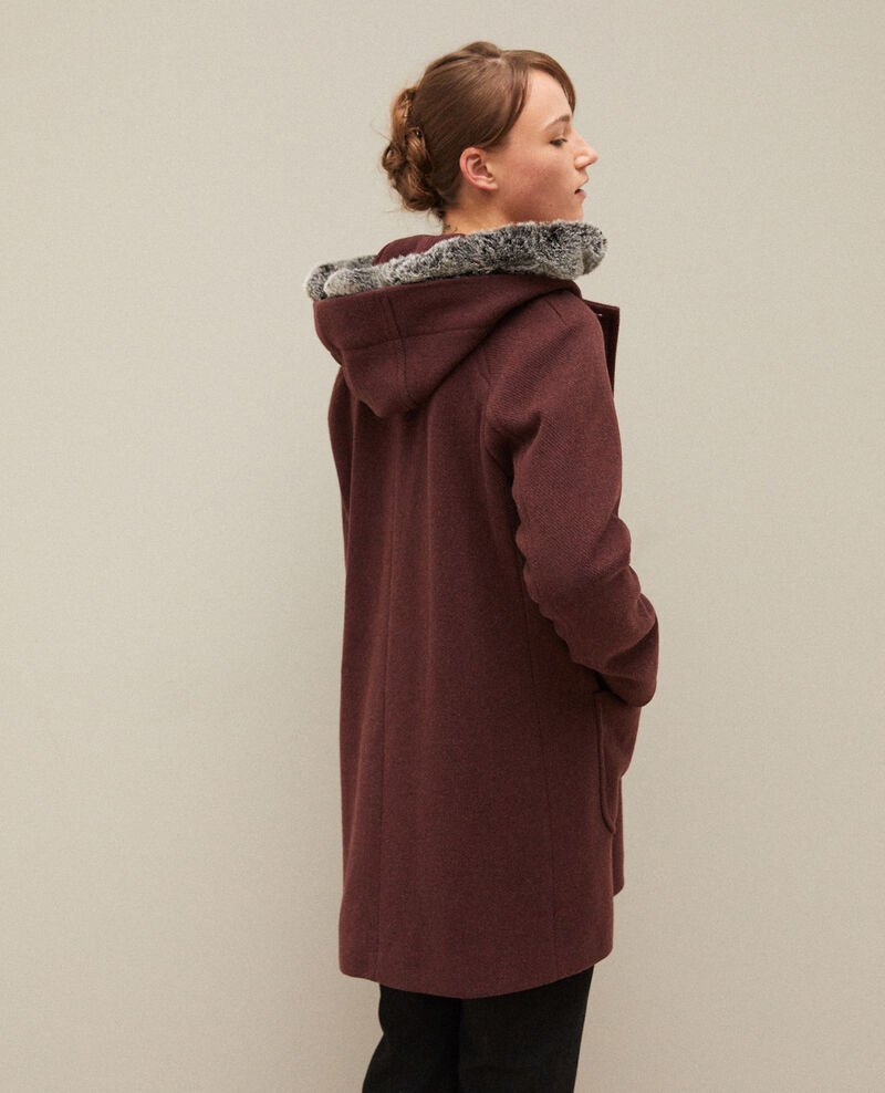 Hooded coat Brown Gustin