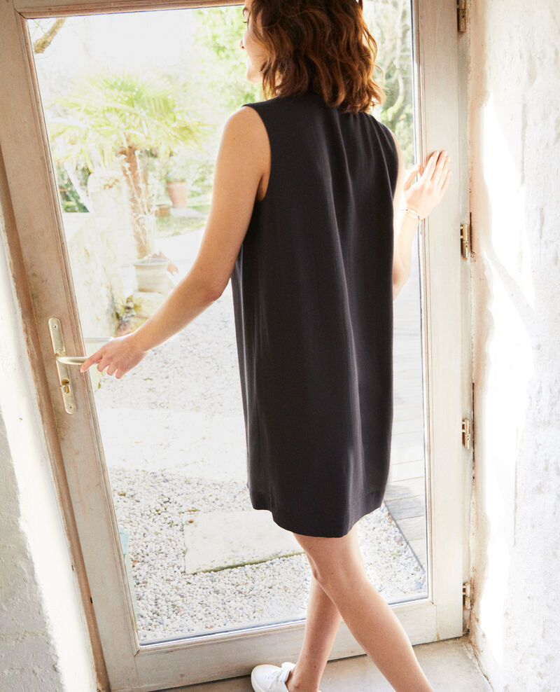 Dress with removable tie Noir Iolandi
