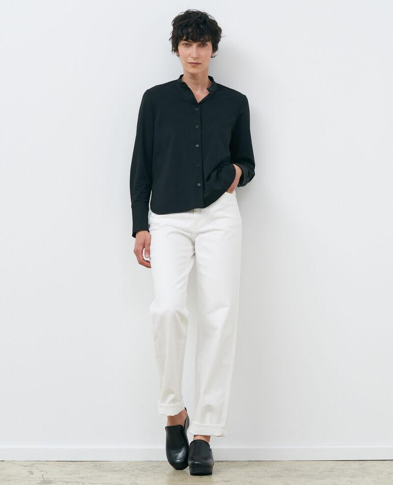 Mandarin collar shirt Black beauty Piblange