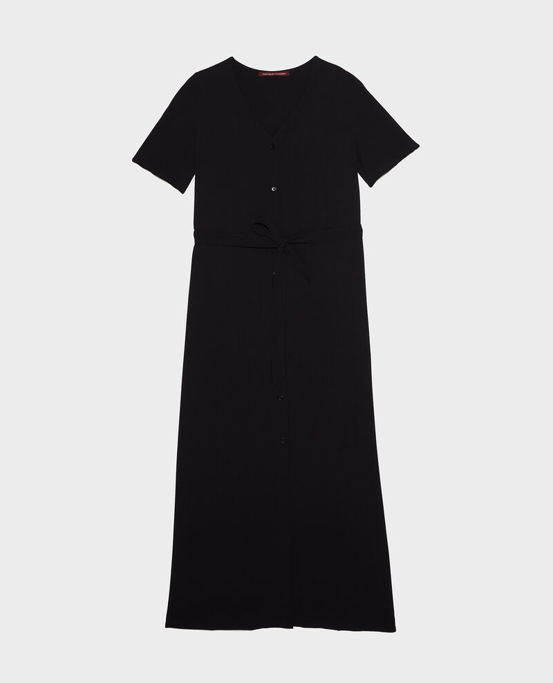 Viscose crêpe maxi dress Black beauty Lavish