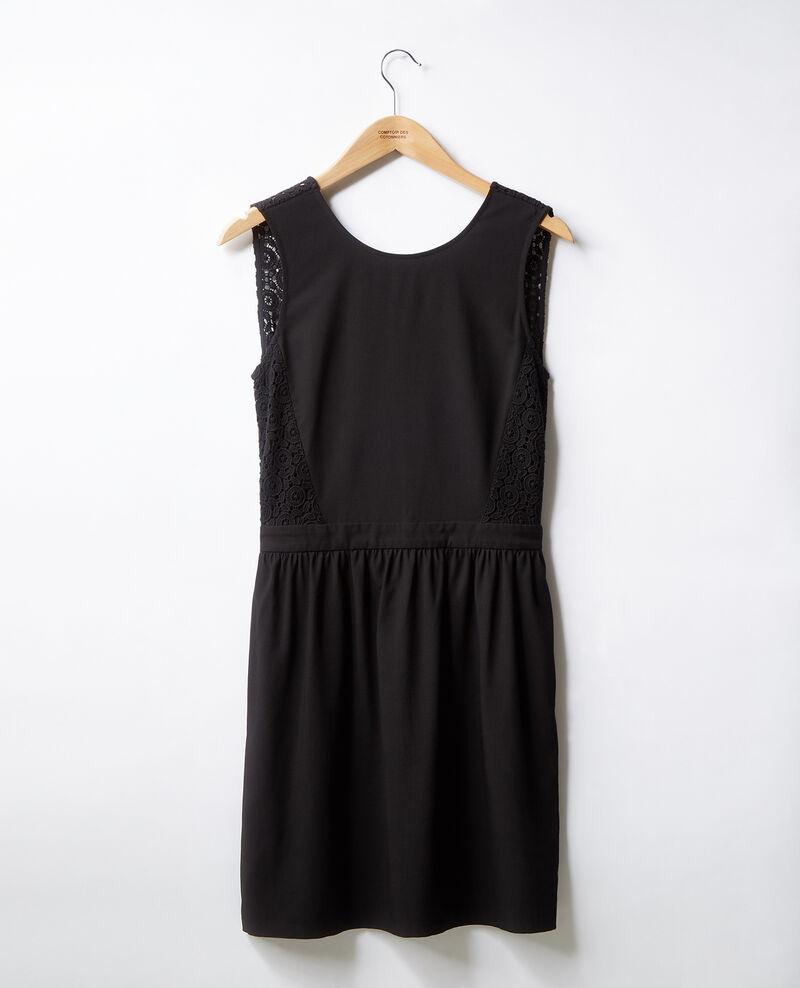 V-back lace dress   Noir Farseille