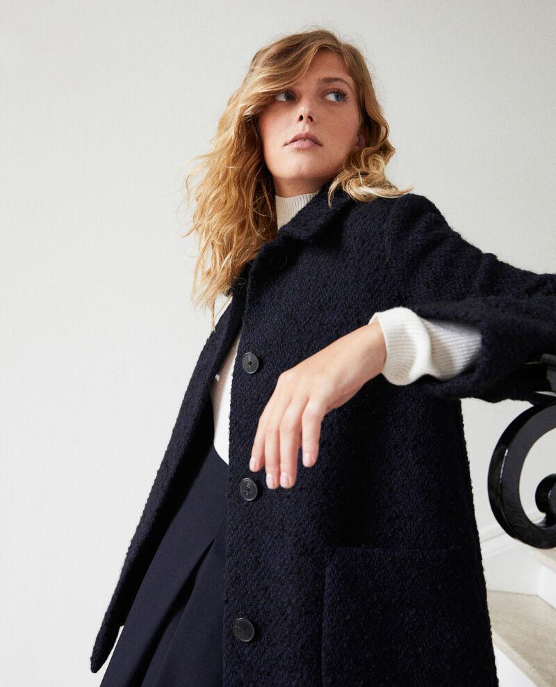 Boiled wool coat Navy Janglais