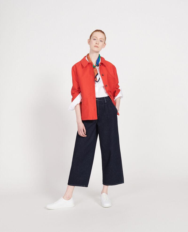 Cotton jacket Fiery red Louatre