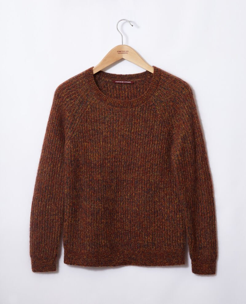 Flecked mohair jumper Golden spice/picante/medieval blue Girofle