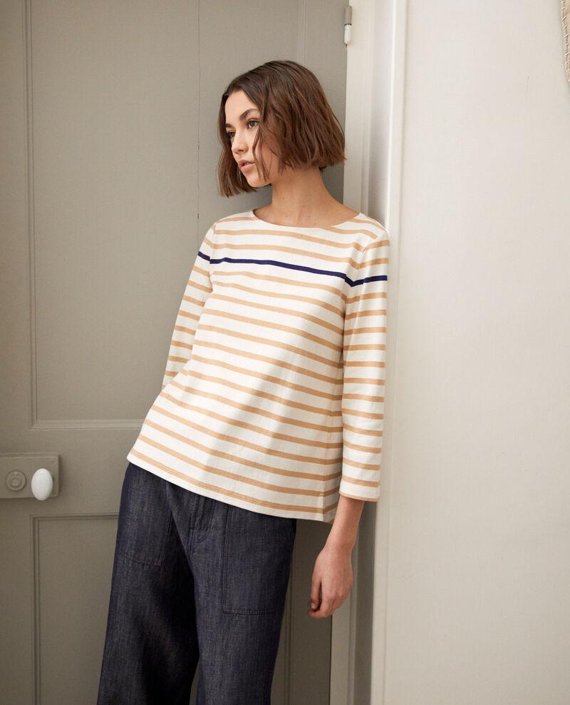 Striped T-shirt Camel Isteria