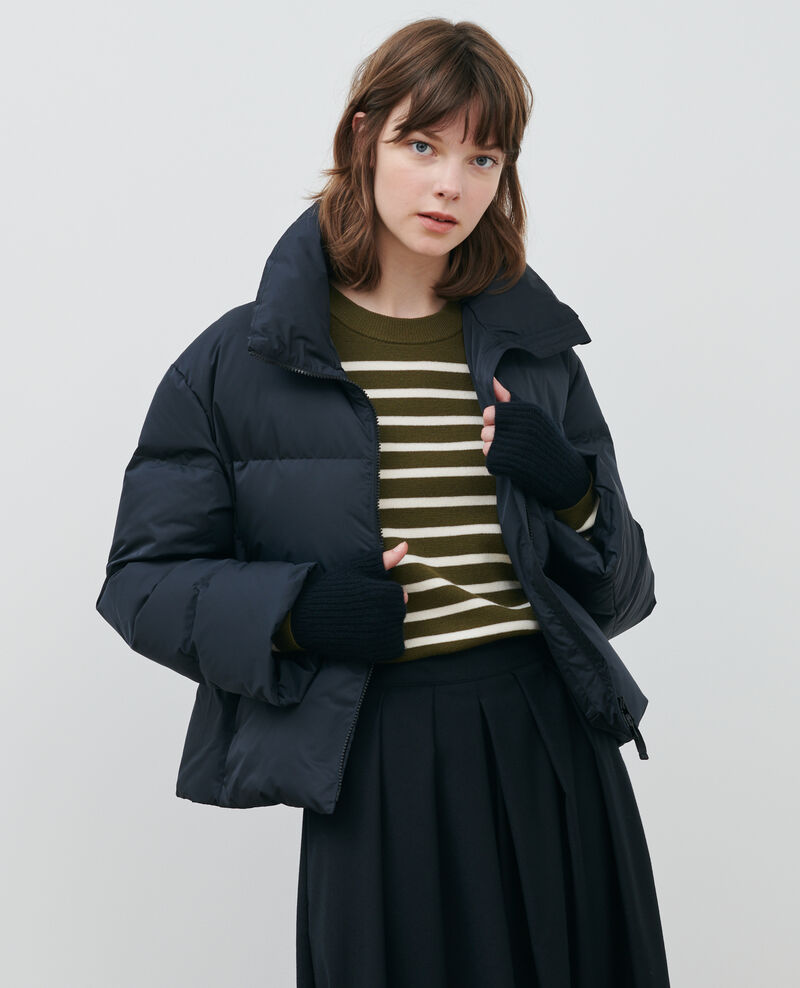 Short fitted parka Black beauty Maure