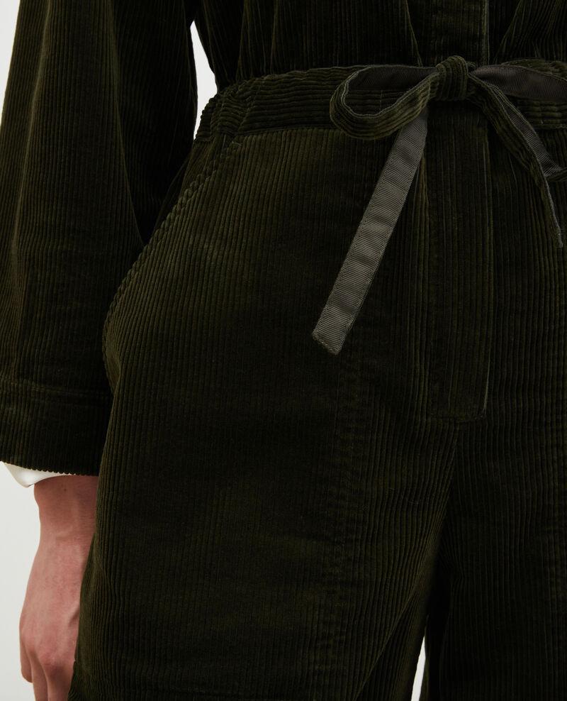 Oversize corduroy jumpsuit Military green Marmax