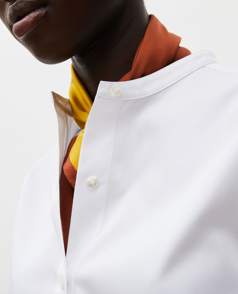 Round neck cotton shirt Brilliant white Mannion