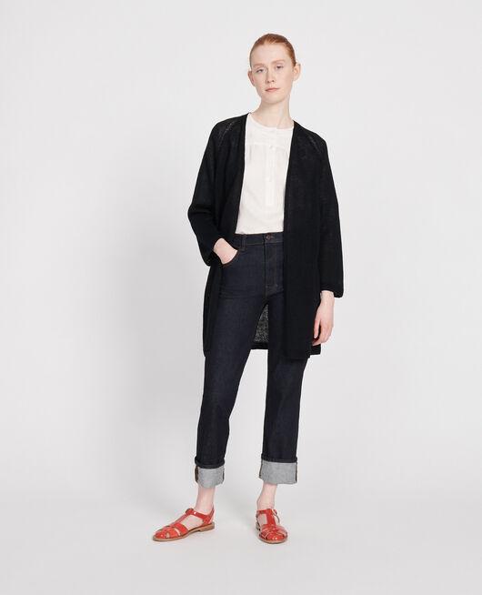 Linen cardigan BLACK BEAUTY