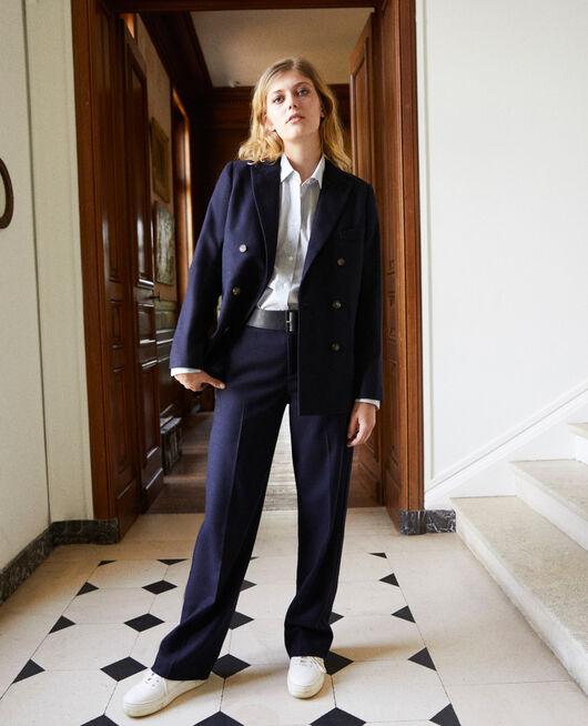 Wool blend suit trousers DARK NAVY