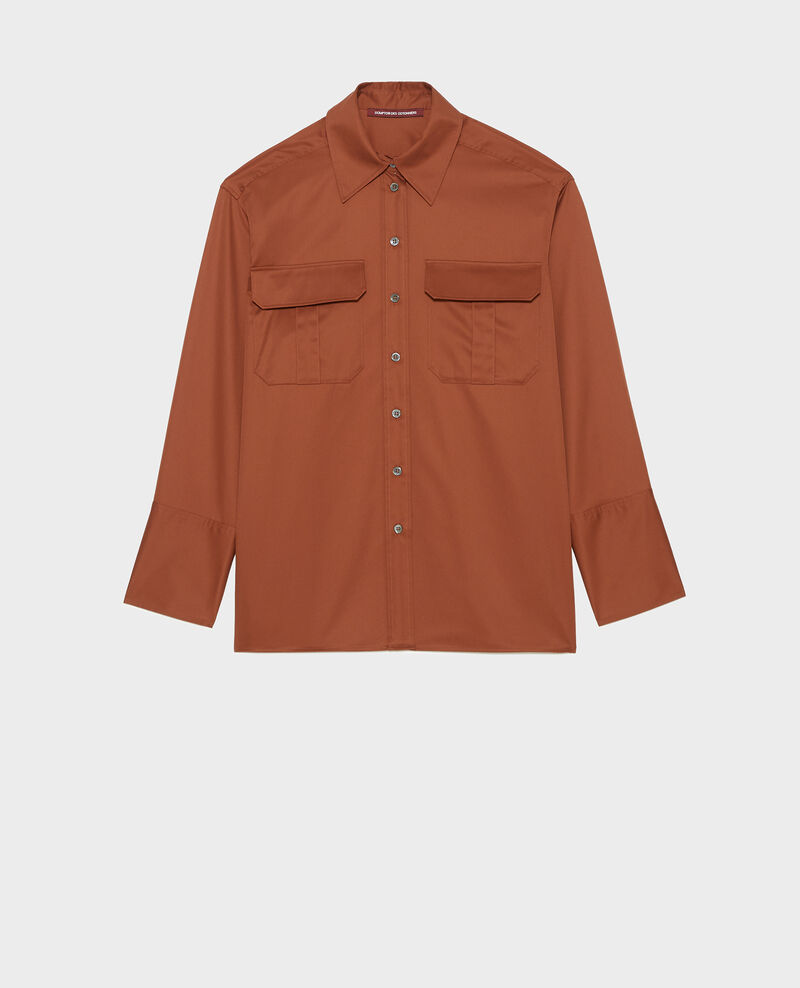 Oversize cotton men's shirt Tortoise shell Mauryl