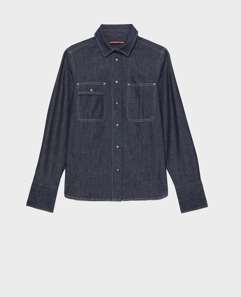Denim shirt with asymmetric pockets Denim brut Madigna