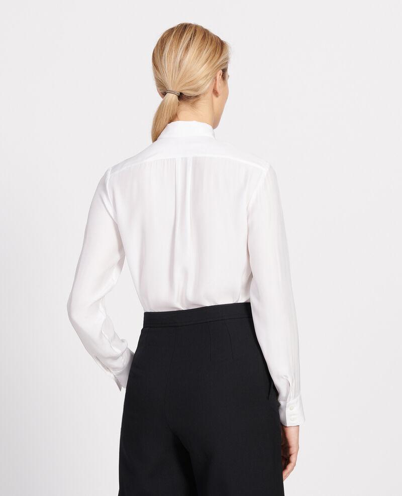 Silk shirt Optical white Loriges