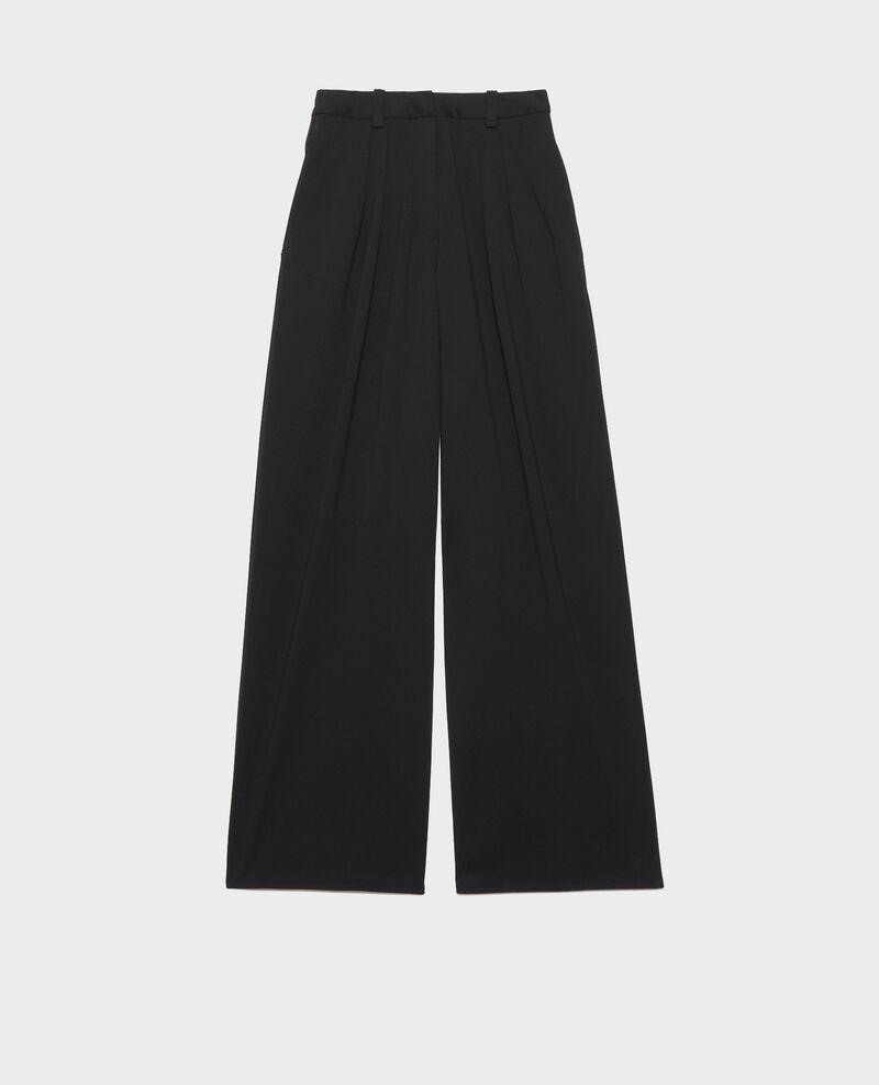 YVONNE trousers, wide pleated Black beauty Pradus