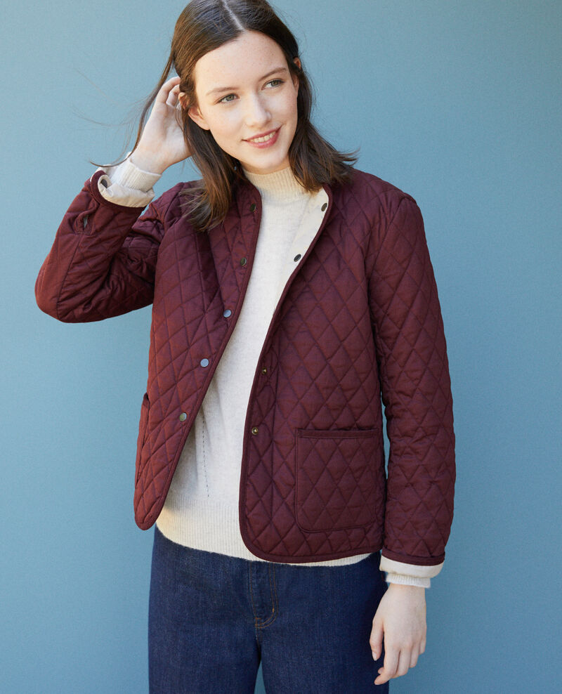 Reversible short jacket Decadente chocolate Godelieve