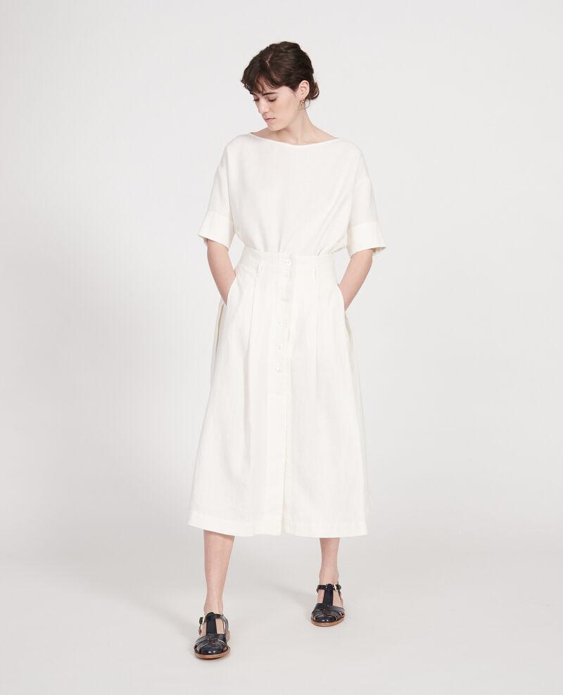 Loose linen skirt Gardenia Lorlange
