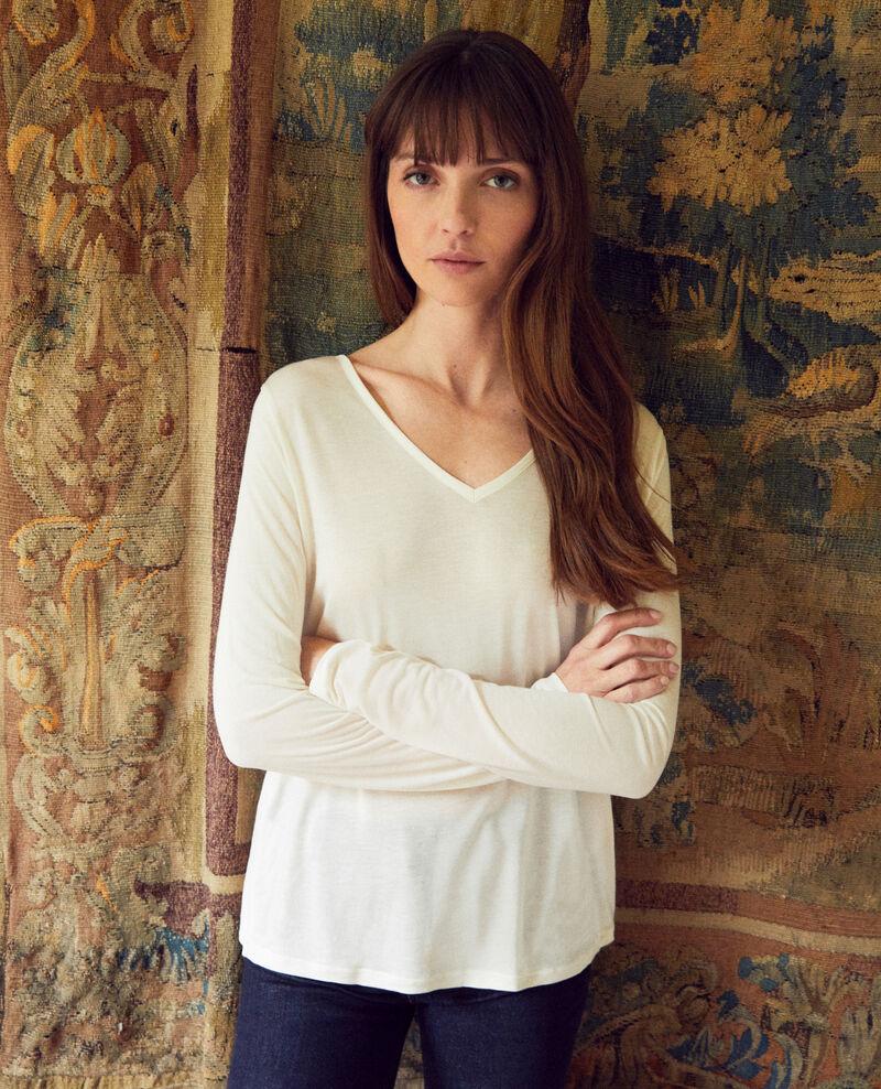 Bimaterial T-shirt Off white Janga