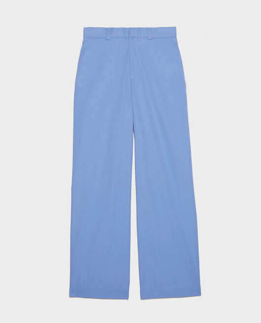 Cotton boyfriend trousers PERSIAN JEWEL