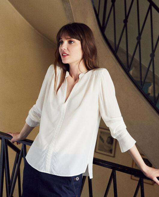 Silk blouse COCONUT MILK