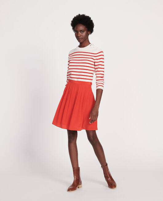 Loose skirt FIERY RED