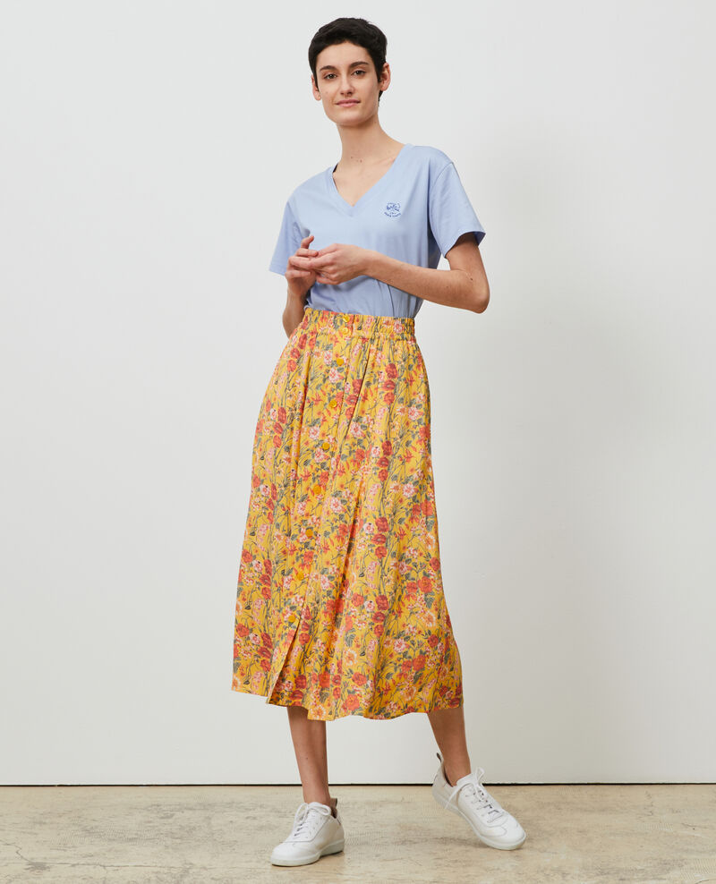 Mid-length skirt Ete gold small Nanthiat